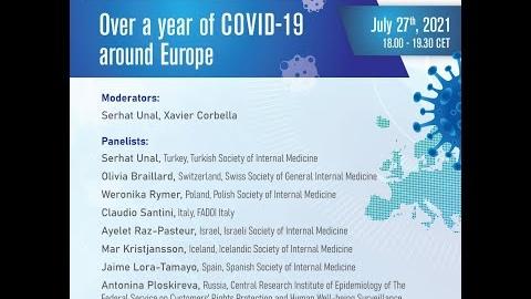 EFIM Webinar - Over a year of COVID-19 around Europe