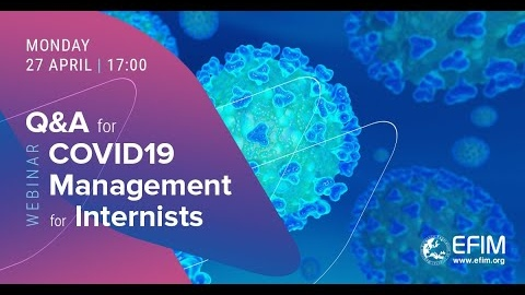 Q&A for COVID 19 Management for Internists-live discussions - 27 April