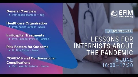 EFIM Webinar - Lessons for Internists about the Pandemic