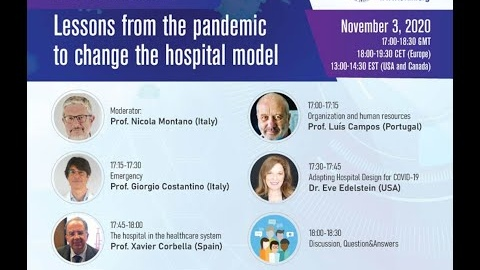 """EFIM webinar: """"Lessons from the pandemic to change the hospital model"""""""